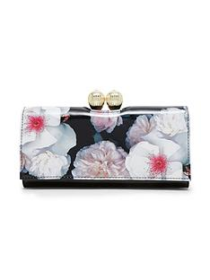 ted-baker-large-cliptop-floral-purse