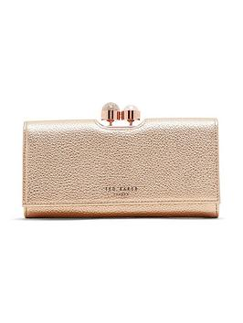 ted-baker-cliptop-grained-purse-rose-gold