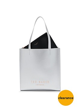 ted-baker-large-logo-shopper-silver