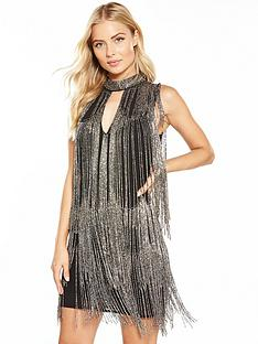 v-by-very-fringed-embellished-mini-dress