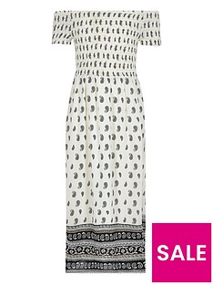 river-island-girls-white-tile-shirred-bardot-maxi-dress