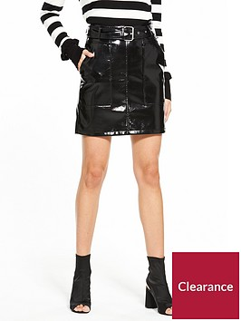 v-by-very-vinyl-belted-skirt