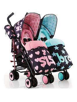 Cosatto Supa Dupa Twin Stroller - Sis &Amp; Bro