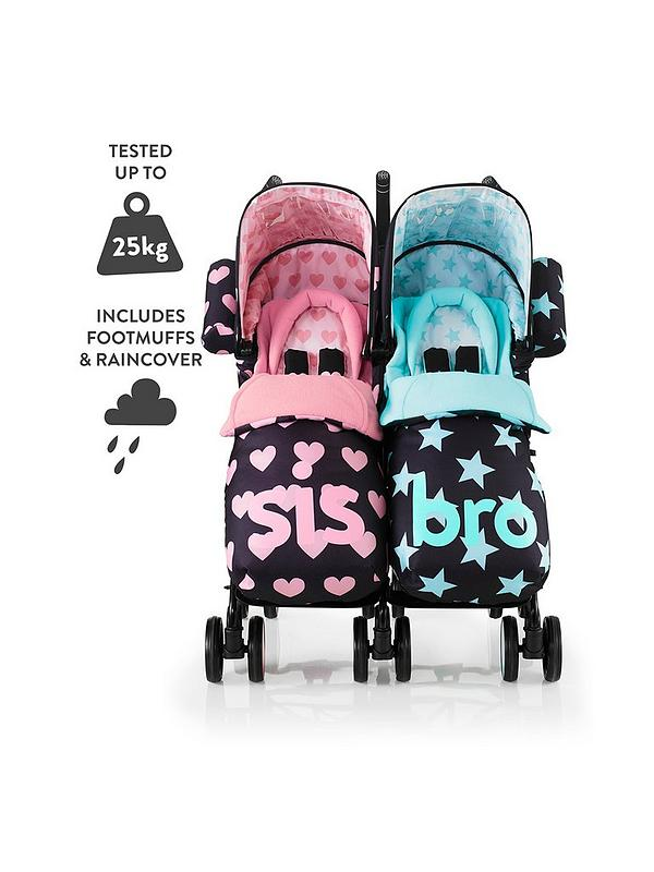 Brand new Cosatto Supa Dupa 2 in 1 Footmuffs and Liners in Big Sis /& Little Sis