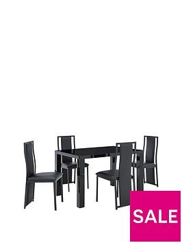 atlantic-120-cm-gloss-dining-table-4-nevada-chairs