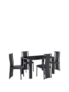 atlantic-120cm-gloss-dining-table-4-nevada-chairs
