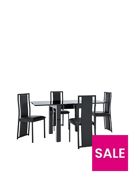 gloss-square-to-rectangle-80-160-cm-extending-dining-table-4-nevada-chairs