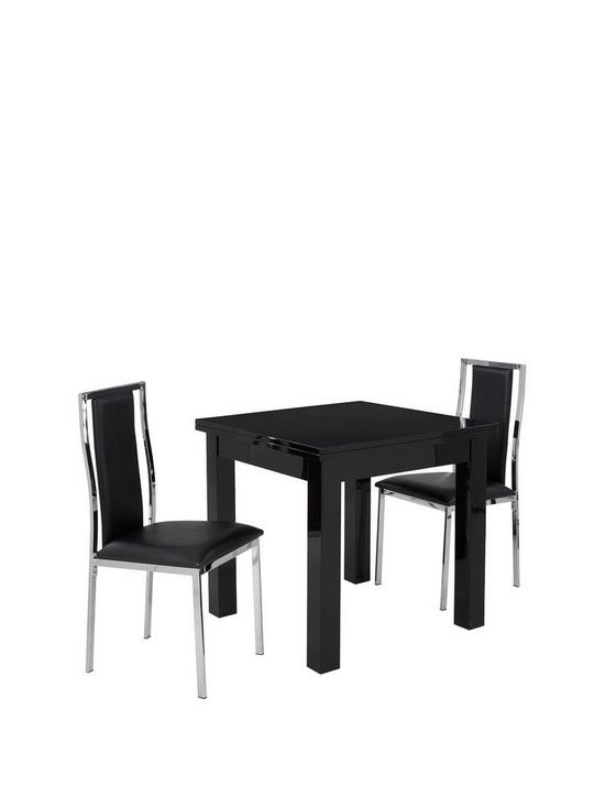 Gloss Square To Rectangle 80 160 Cm Extending Dining Table 2
