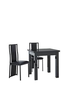 gloss-square-to-rectangle-80-160-cm-extending-dining-table-2-nevada-chairs