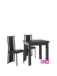 gloss-square-to-rectangle-table-80-160cm-extending-dining-table-2-nevada-chairs