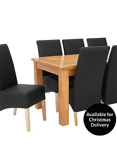oakland-170-cm-solid-wood-dining-table-8-eternity-chairs