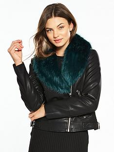 Leather & Faux Leather Jackets | V by very | Coats & jackets ...