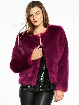 V By Very Luxe Faux Fur Coat