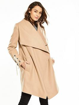 v-by-very-eyelet-detail-waterfall-coat-camel