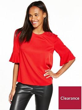 boss-kaloky-flute-sleeve-blouse-medium-red