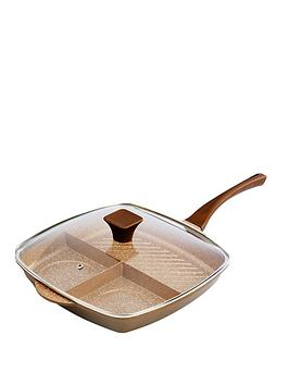 Tower Cerastone 3-In-1 Cast Grill Pan &Ndash; Gold