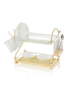 swan-two-tier-s-shape-dish-rack--nbspcream