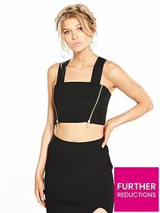 ri-petite-side-zip-crop-top-black