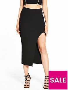 ri-petite-side-split-skirt-black