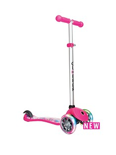 plum-globber-primo-fantasy-lights-scooter-flowers-neon-pink