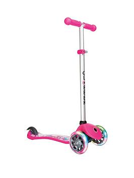 Globber Globber Primo Fantasy Lights Scooter - Flowers Neon Pink