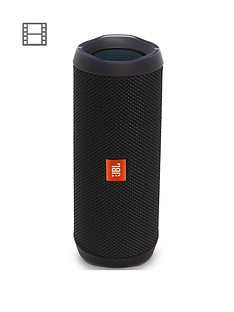 JBL Flip 4 Wireless Bluetooth Waterproof Speaker with Call handling and up to 12 hours Playtime - Black