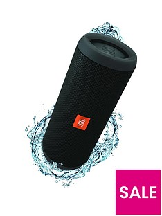 JBL Flip 4 Wireless Bluetooth Speaker - Black