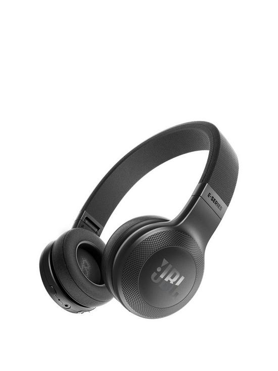 5af59466745 JBL E45 Bluetooth On-Ear Wireless Headphones - Black | very.co.uk