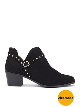 miss-selfridge-black-stud-cut-out-boot