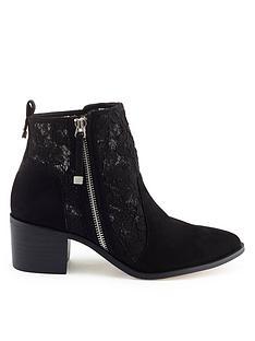 miss-selfridge-black-lace-ankle-boot