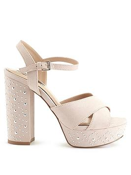 miss-selfridge-nude-stud-heel-platform