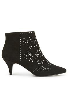 miss-selfridge-stud-kitten-heel-boot