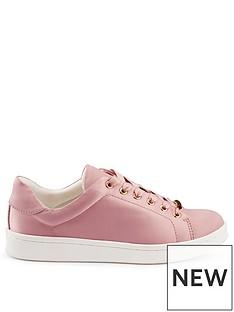 miss-selfridge-satin-chunky-trainer-pink