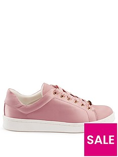 miss-selfridge-satin-chunky-trainer-pink