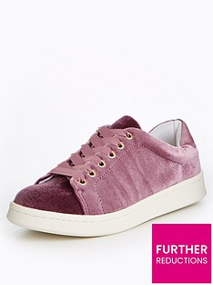 miss-selfridge-miss-selfridge-lilac-velvet-chunky-trainer