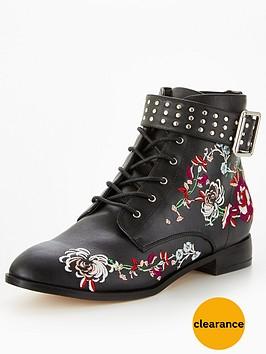 miss-selfridge-miss-selfridge-embroidered-worker-ankle-boot