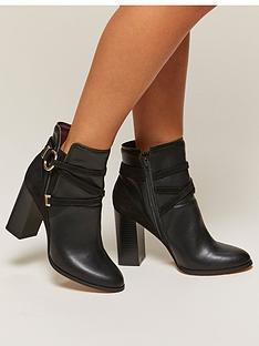 miss-selfridge-miss-selfridge-black-circle-wrap-ankle-boot