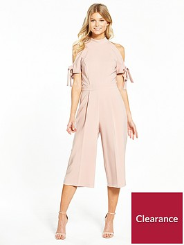 miss-selfridge-petite-bow-sleeve-jumpsuit-nude