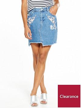miss-selfridge-petite-denim-embroiderednbspmini-skirt