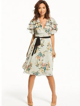 Myleene Klass Contrast Tie Tea Dress
