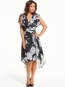 Myleene Klass Floral Wrap Midi Dress