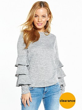 v-by-very-petite-ruffle-sleeve-snit-jumper
