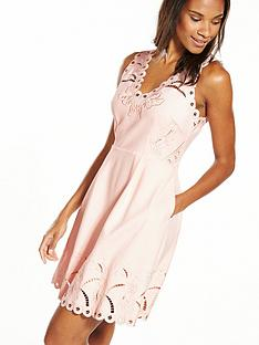 ted-baker-embroidered-skater-dress-nudepink