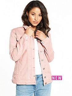 miss-selfridge-long-line-denim-jacket