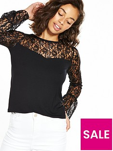 v-by-very-petite-long-sleeve-lace-yoke-jersey-top