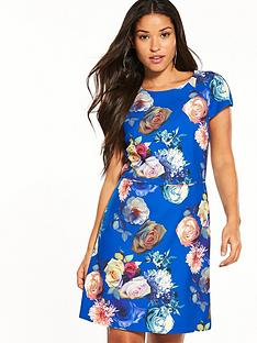 oasis-rose-short-sleeve-shift-dress