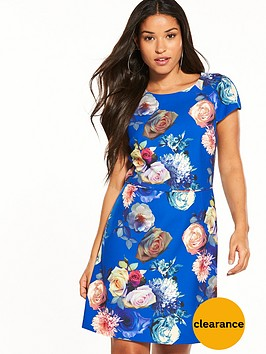 oasis-rose-short-sleeve-shift-dress
