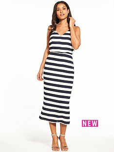 oasis-oasis-stripe-knot-back-midi-dress