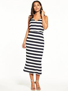 oasis-stripe-knot-back-midi-dress
