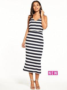 oasis-stripe-knot-back-midi-dress